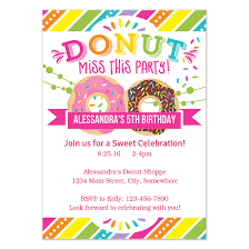 Party Invitations Donut Party Invitation Invitations Cards On Pingg Com