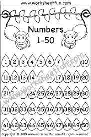 50 Number Chart Free Printable Worksheets Worksheetfun