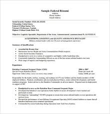 Doc12751650 Federal Resume Format Template Cover Letter For Army Resume  Builder 2017