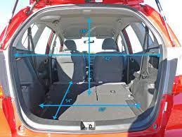 Honda fit 2007 trunk dimensions. 2008 Honda Fit Cargo Space Measurements Honda Fit Camping Honda Fit Honda Fit Interior