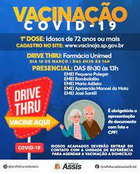 Prefeitura de Assis - Vacinação contra a COVID-19 aos idosos a partir de 72  anos tem início nesta quinta-feira, 18