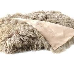 mongolian sheepskin rug fleece for dogs lambskin throw fur blanket in 4 colors grey mongolian sheepskin rug
