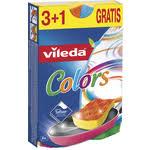 Купить <b>Губка VILEDA Pure Colors</b> (Пур Колорс) для посуды 3+1 ...