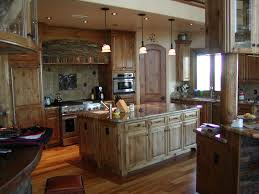 excellent custom made rustic alder cabinets for large space kitchen furniture sets as well as bronze ceiling island lighting ideas also wooden floors panels