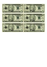 Ten Dollar Bill Play Money Template Printable Pdf Download