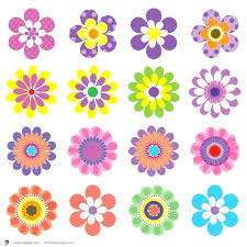 Free Printable Flowers Clip Art Flower Coloring Sheets For