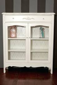 white china cabinet with glass doors white hutch with glass doors