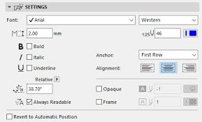 Dimension Text Settings Help Center Archicad Bimx Bim Server