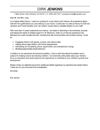 Brilliant Cover Letter For Personal Assistant About Best Nanny