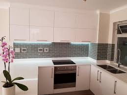 White High Gloss Small Kitchen The Working Surface That Matches The