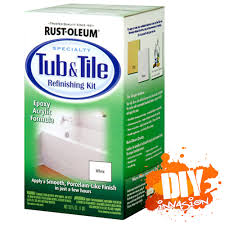 rustoleum rust oleum white tub tile paint refinishing kit bathtub tile paint 20066786090