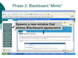 Ask A Librarian In The Blackboard Environment Ppt Download