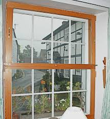 diy secondary glazing fitted to a sash window note the knob and handles and