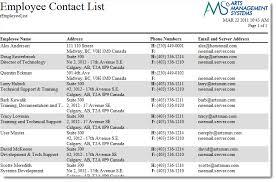Employee Contact List Under Fontanacountryinn Com