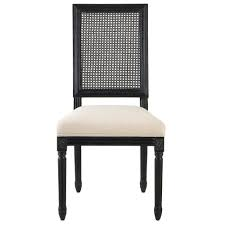home decorators collection jacques cane antique black square back dining side chairs set of 2