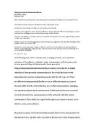 Communication Essay Sample Interpersonal Communication Reflective Essay Writing Self