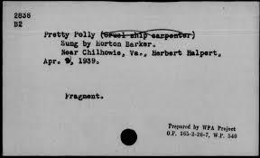 Pretty Polly (Cruel ship carpenter)   Library of Congress