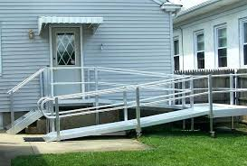 how to build a handicap ramp building wheelchair for stairs over temporary