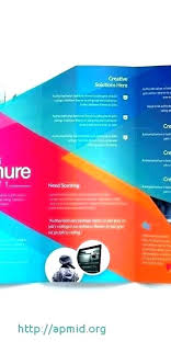 Quad Fold Brochure Template Word 4 Panel Brochure Template Indesign
