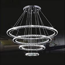 meerosee crystal chandeliers modern led ceiling lights fixtures pendant lighting dining room chandelier 4 rings diy design d31 5 23 6meerosee crystal