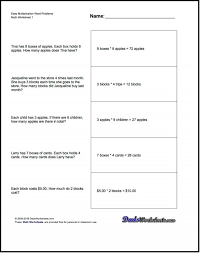 Math Worksheets Multiplication And Division Word Problems 4th ...