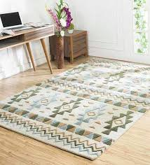 ivory wool viscose hand tufted 60x96 inch modern kilim area rug by jaipur rugs ethnic motif carpets carpets carpets furnishing