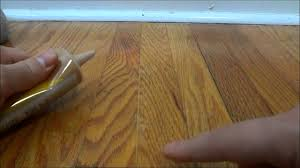 fill gaps in new hardwood floor