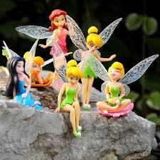 6pcs tinkerbell fairy 3 figures s dolls set silvermist rosetta tinker bell ebay