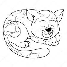 coloring book cat vetores de stock