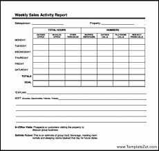 Weekly Sales Call Reporting Format | TemplateZet