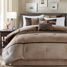 grey and tan bedding madison park hanover brown solid pieced 7 piece comforter set grey and