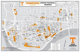 Neyland Stadium Seating Chart 2018 Tennessee Fund Parking Map Lot Details