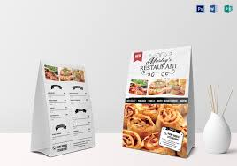 restaurant table layout templates restaurant table tent menu card design template in psd word publisher