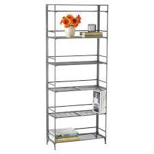 metal book shelves. Contemporary Metal 6Shelf Iron Folding Bookcase For Metal Book Shelves I