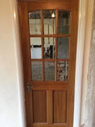 internal wooden glass doors