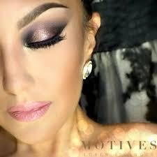 dramatic bridal makeup look