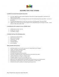 resume for tutor