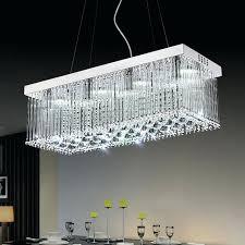 rectangular crystal chandelier modern led chandeliers light lamp for living room dining lighting canada