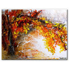 landscape painting acrylic paint canvas sponge pallet knife you