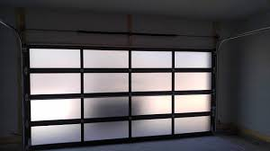 CHI Model 3295 Frosted Glass Garage DoorAluminum  Modern U0026 Contemporary