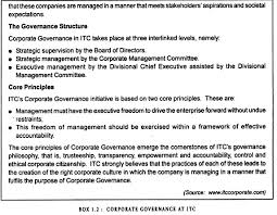 essay on corporate governance corporate governance at itc