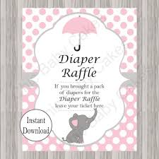 raffle sign little peanut diaper raffle tickets sign pink chic baby cakes