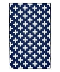 colours harrietta black white geometric rug navy main