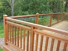 frameless gl railing detail cost of system baers for decks