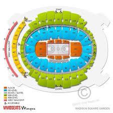 New York Knicks Rangers Seating Chartmadison Square Garden