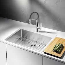Shop 33x22 Single Bowl 16g Ss Drop In Kitchen Sink W Strainer On