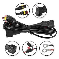 wiring fog lights motorcycle explore wiring diagram on the net • 40a 12v universal wiring harness switch on off for motorcycle rh ledfactorymart com wiring diagram motorcycle fog lights fog light relay wiring diagram