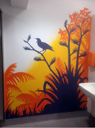art in the gym changing room shower areas of msocial hotel auckland  on wall paintings artistic with nz murals and graffiti art jonny 4higher