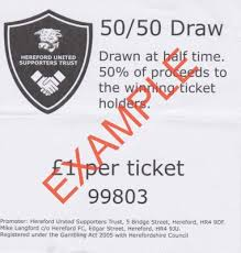 Prize Draw Tickets Online Match Day Half Time 50 50 Draw Tickets Hereford United