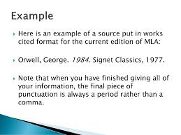 Current Mla Edition The Documentation Format Of The Modern Language Association Ppt
